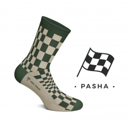 CHAUSSETTES PASHA OLIVE / TAUPE