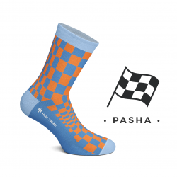 CHAUSSETTES PASHA ORANGE / BLEU