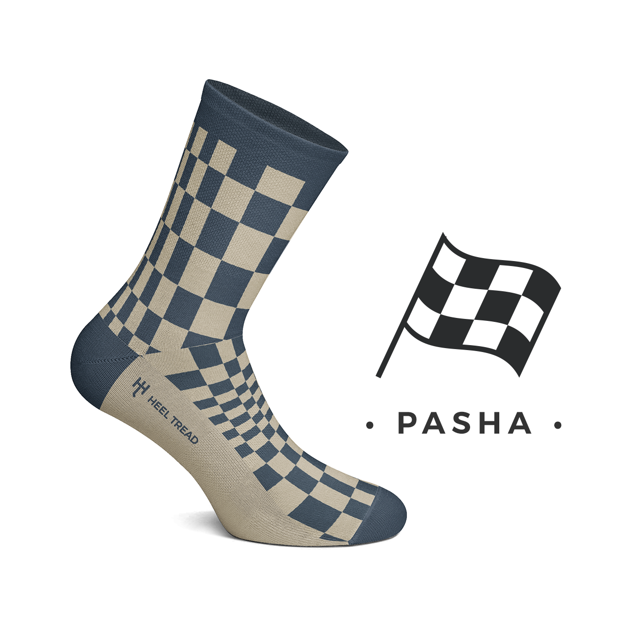 CHAUSSETTES PASHA NAVY / TAUPE
