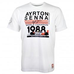AYRTON SENNA T-SHIRT CHAMPION DU MONDE 1988 MAC LAREN