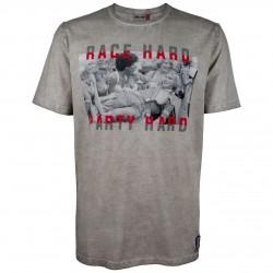 JAMES HUNT T-SHIRT RACE HARD PARTY HARD